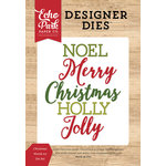 Echo Park - I Love Christmas Collection - Designer Dies - Christmas Words 2