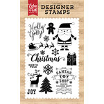 Echo Park - I Love Christmas Collection - Clear Acrylic Stamps - Holly Jolly