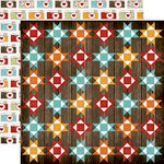 Echo Park - I Love Family Collection - 12 x 12 Double Sided Paper - Family Quilt