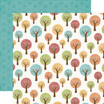 Echo Park - I Love Family Collection - 12 x 12 Double Sided Paper - Family Tree