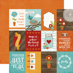 Echo Park - I Love Family Collection - 12 x 12 Double Sided Paper - 3 x 4 Journaling Cards