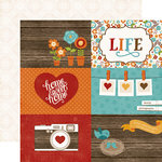 Echo Park - I Love Family Collection - 12 x 12 Double Sided Paper - 4 x 6 Journaling Cards