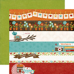 Echo Park - I Love Family Collection - 12 x 12 Double Sided Paper - Border Strips