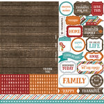 Echo Park - I Love Family Collection - 12 x 12 Cardstock Stickers - Alphabet