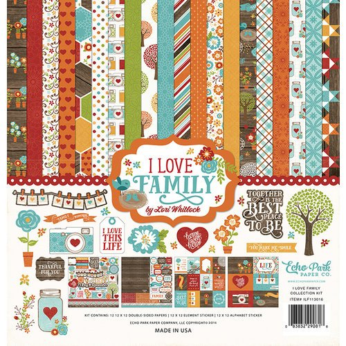Echo Park - I Love Family Collection - 12 x 12 Collection Kit