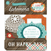 Echo Park - I Love Family Collection - Ephemera - Frames and Tags