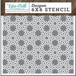 Echo Park - I Love Family Collection - 6 x 6 Stencil - Floral Lace