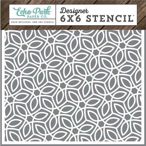 Echo Park - I Love Family Collection - 6 x 6 Stencil - Quilted Stitch