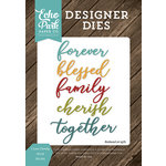 Echo Park - I Love Family Collection - Designer Dies - I Love Family Word