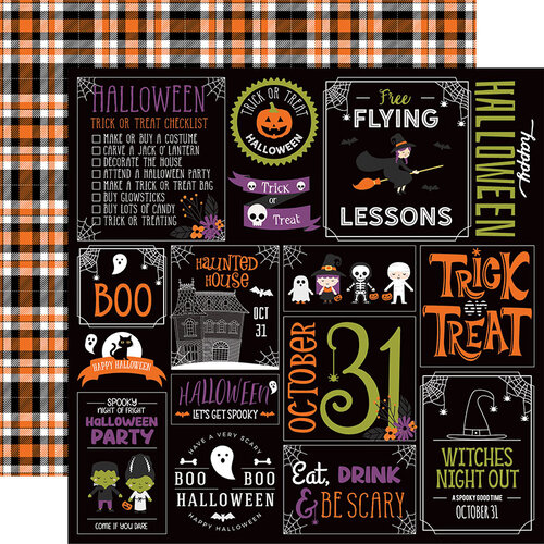 Echo Park - I Love Halloween Collection - 12 x 12 Double Sided Paper - Halloween Party