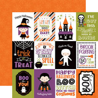 Echo Park - I Love Halloween Collection - 12 x 12 Double Sided Paper - 3 x 4 Journaling Cards