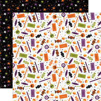 Echo Park - I Love Halloween Collection - 12 x 12 Double Sided Paper - Candy Crash