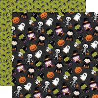 Echo Park - I Love Halloween Collection - 12 x 12 Double Sided Paper - Trick Or Treat