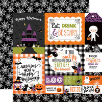 Echo Park - I Love Halloween Collection - 12 x 12 Double Sided Paper - Multi Journaling Cards
