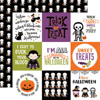 Echo Park - I Love Halloween Collection - 12 x 12 Double Sided Paper - 4 x 4 Journaling Cards