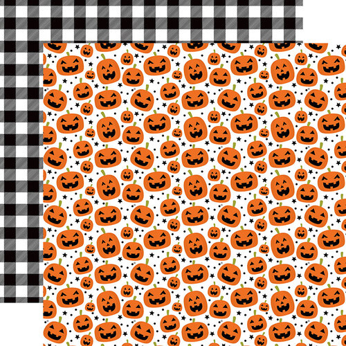Echo Park - I Love Halloween Collection - 12 x 12 Double Sided Paper - Pumpkin Pals