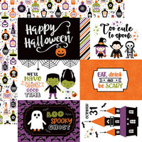 Echo Park - I Love Halloween Collection - 12 x 12 Double Sided Paper - 6 x 4 Journaling Cards