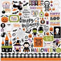 Echo Park - I Love Halloween Collection - 12 x 12 Cardstock Stickers - Elements