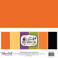 Echo Park - I Love Halloween Collection - 12 x 12 Paper Pack - Solids
