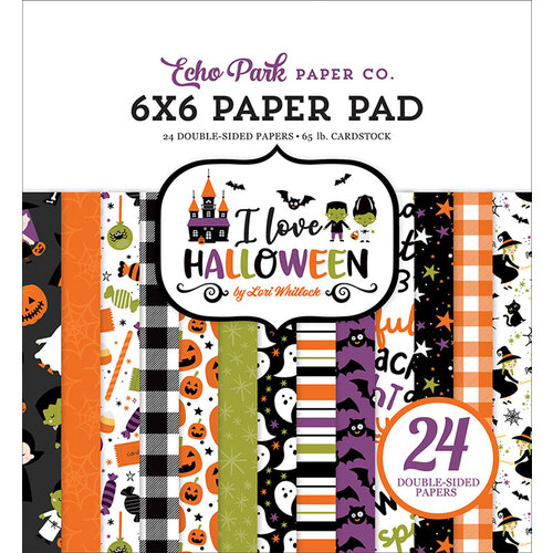 Echo Park - I Love Halloween Collection - 6 x 6 Paper Pad