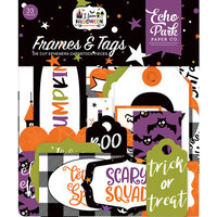 Echo Park - I Love Halloween Collection - Ephemera - Frames and Tags