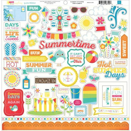 Echo Park - I Love Sunshine Collection - 12 x 12 Cardstock Stickers - Elements