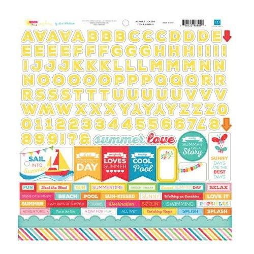 Echo Park - I Love Sunshine Collection - 12 x 12 Cardstock Stickers - Alphabet