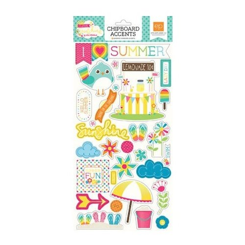 Echo Park - I Love Sunshine Collection - Chipboard Stickers