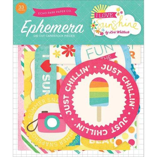 Echo Park - I Love Sunshine Collection - Ephemera