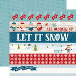 Echo Park - I Love Winter Collection - 12 x 12 Double Sided Paper - Border Strips