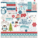 Echo Park - I Love Winter Collection - 12 x 12 Cardstock Stickers - Elements