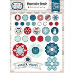 Echo Park - I Love Winter Collection - Decorative Brads
