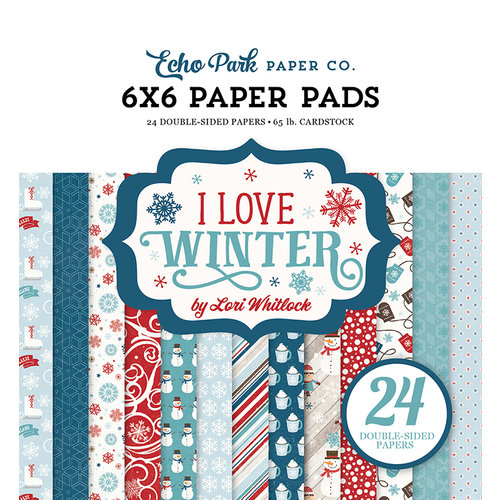 Echo Park - I Love Winter Collection - 6 x 6 Paper Pad