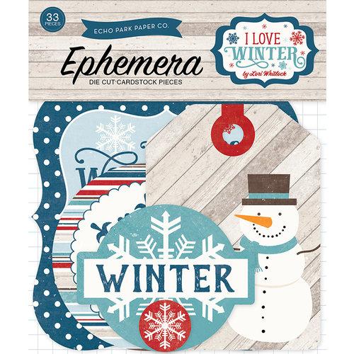Echo Park - I Love Winter Collection - Ephemera