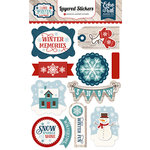 Echo Park - I Love Winter Collection - Layered Stickers