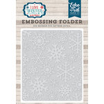 Echo Park - I Love Winter Collection - Embossing Folder - Snowflake 2
