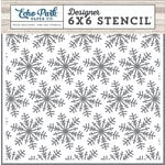 Echo Park - I Love Winter Collection - 6 x 6 Stencil - Winter Snowflakes