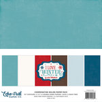 Echo Park - I Love Winter Collection - 12 x 12 Paper Pack - Solids