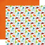 Echo Park - Imagine That Boy Collection - 12 x 12 Double Sided Paper - Dino Friends
