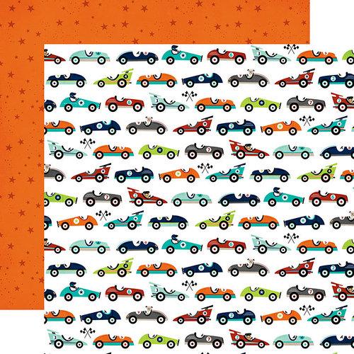 Echo Park - Imagine That Boy Collection - 12 x 12 Double Sided Paper - Car Race