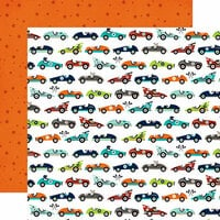 Echo Park - Imagine That Boy Collection - 12 x 12 Double Sided Paper - Car Race