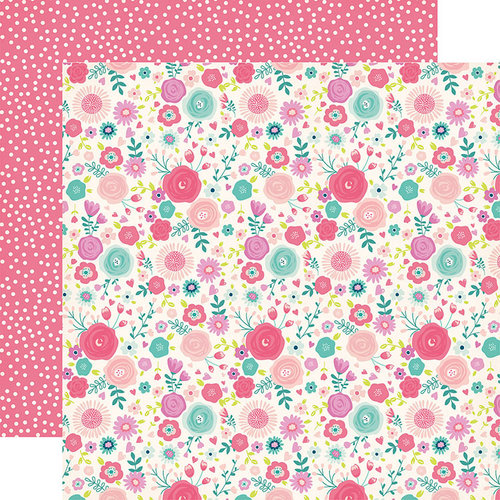 Echo Park - Imagine That Girl Collection - 12 x 12 Double Sided Paper - Fancy Floral
