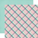 Echo Park - Imagine That Girl Collection - 12 x 12 Double Sided Paper - Princess Plaid