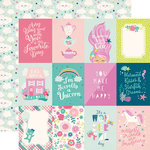 Echo Park - Imagine That Girl Collection - 12 x 12 Double Sided Paper - 3 x 4 Journaling Cards
