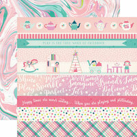 Echo Park - Imagine That Girl Collection - 12 x 12 Double Sided Paper - Border Strips