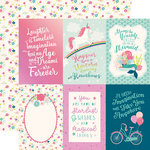 Echo Park - Imagine That Girl Collection - 12 x 12 Double Sided Paper - 4 x 6 Journaling Cards