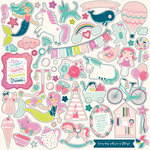 Echo Park - Imagine That Girl Collection - 12 x 12 Cardstock Stickers - Elements
