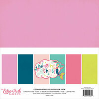 Echo Park - Imagine That Girl Collection - 12 x 12 Paper Pack - Solids