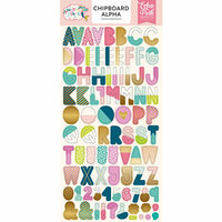 Echo Park - Imagine That Girl Collection - Chipboard Stickers with Foil Accents - Alphabet