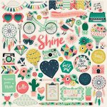 Echo Park - Just Be You Collection - 12 x 12 Cardstock Stickers - Elements